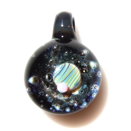 [UWP-28]glasxy double planet pendant
