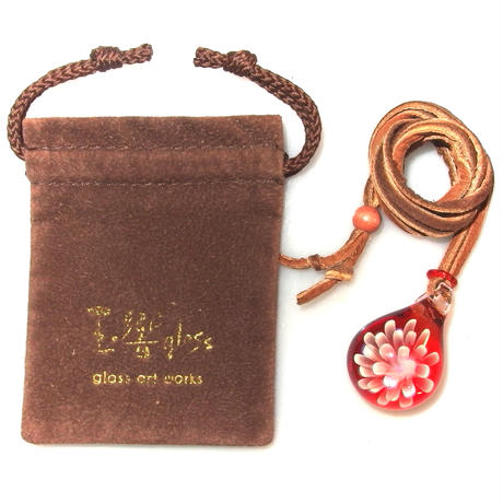 [MCN2-15] mini clear flower pendant