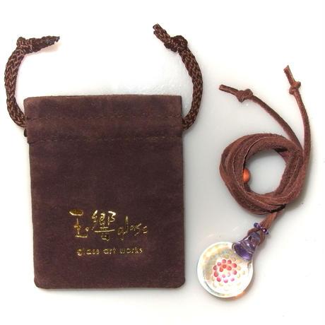 [MCF-12]mini clear flower pendant