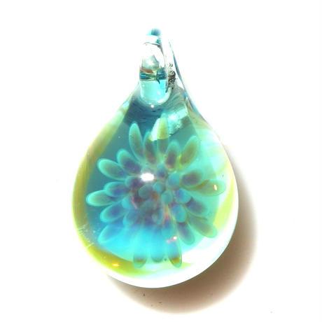 [MCUN3-01] mini clear unber flower pendant