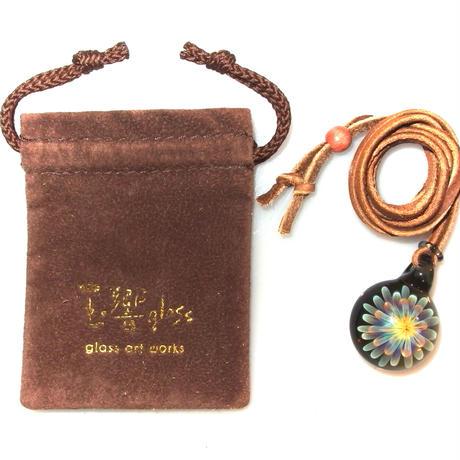 [MCUN2-94] mini clear unber flower pendant