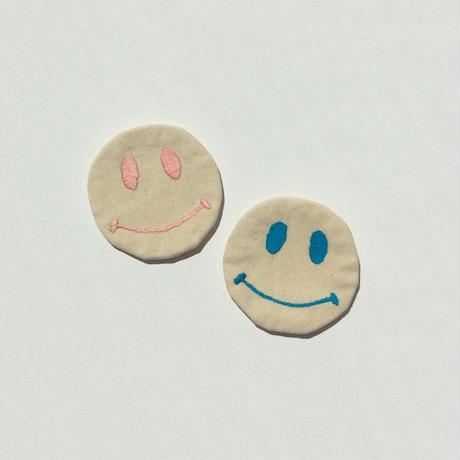 Happy Faceブローチ/コースター