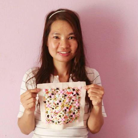 刺繍パネル(Po1)