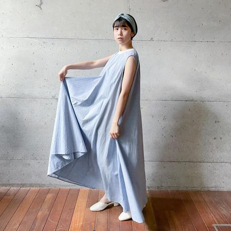 [MidiUmi] ノースリーブプレンティワンピース /  blue   Women's