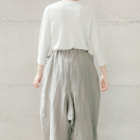 "[KENLAND] ""きらめく心をそっと忍ばせて""ラメUネックプルオーバー / Linen   /  全2色 |Women's"