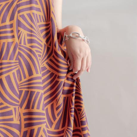 [CONN] 今日の主役は私です。チューブネックドレス/ オレンジ×パープル Women's