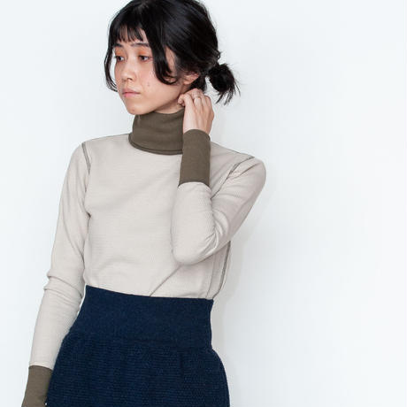 [RUMBLE RED] ワッフル地が心地良いハイネックサーマルシャツ /全3色 | Women's
