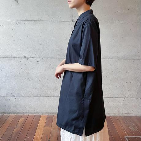 [mizuiro ind] フロントフライワイドロングシャツ /  全3色 |Women's