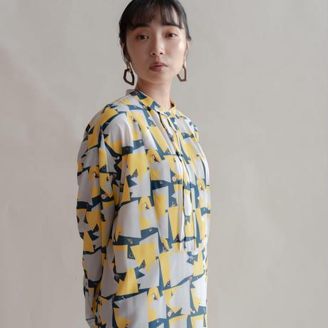 [mannine] スタンドシャツワンピース /  gray|Women's