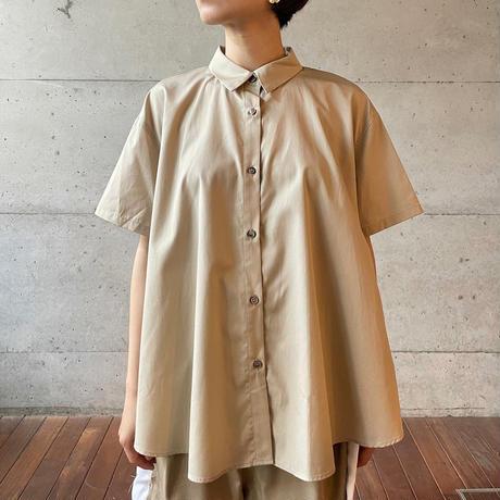 [MidiUmi] Aラインハーフスリーブシャツ /  全3色  Women's