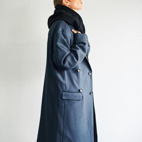 OVER-LIGHT CROMBIE COAT(Navy)