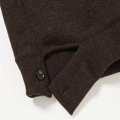 B-Neck Button Cut Pull-over(Black)