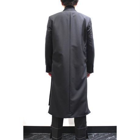 BARONIARU  HIGH-SLIT CHESTER COAT【BLK】