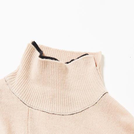Double Layerd  Bi-color Knit(Beige)