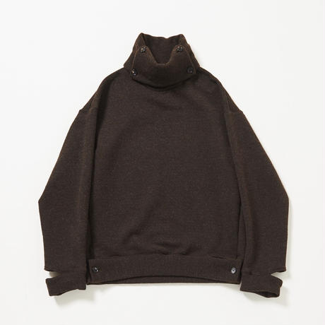 B-Neck Button Cut Pull-over(Brown)