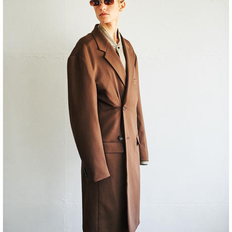 OVER-LIGHT CROMBIE COAT(Brown)