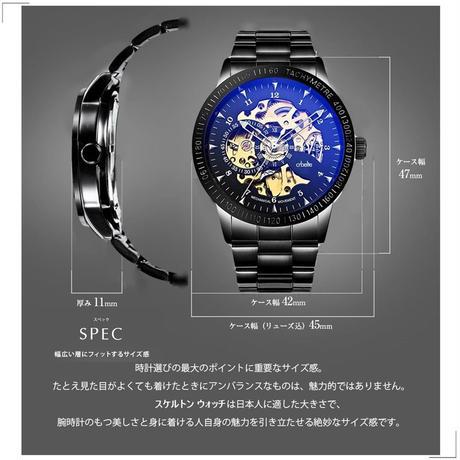 腕時計 スケルトン メンズ 自動巻き 8ATM 防水 日本製ムーブメント ステンレス