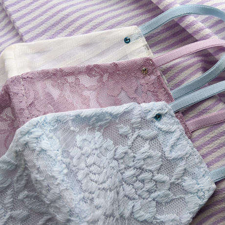 【Women's & Girl's】ドレスマスク/PALE  BLUE LACE