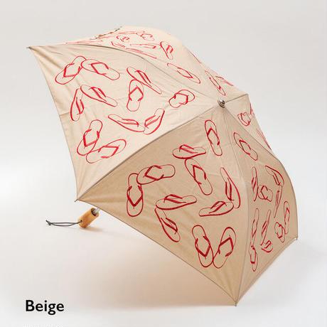 【LaLa Senorita】折畳み刺繍パラソル BEACH SANDAL