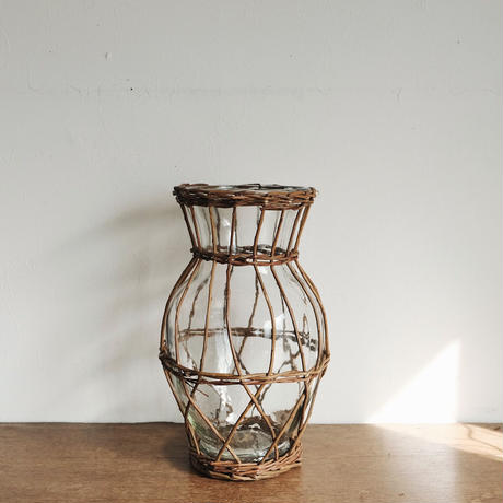 flower vase  / かご編み ロング