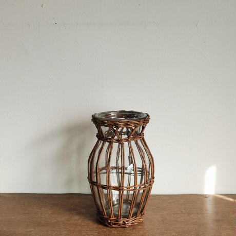 flower vase  / かご編み ミディアム