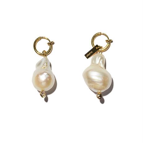 バロックパールイヤリングス(両耳ピアス・イヤリング)/baroque pearl earrings/0041