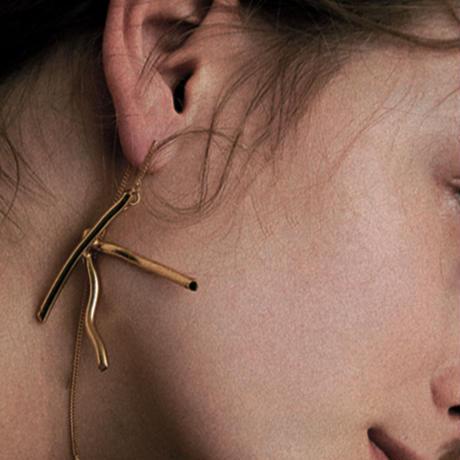 イニシャルイヤリング(片耳ピアス)initial earring/0068