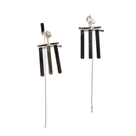 フリンジイヤリングス(両耳ピアス)/fringe earrings/0082