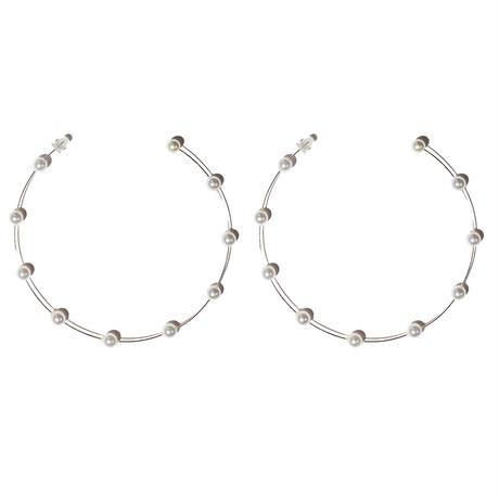 ピスティルフープイヤリング(両耳ピアス)pistil hoop earrings /0112