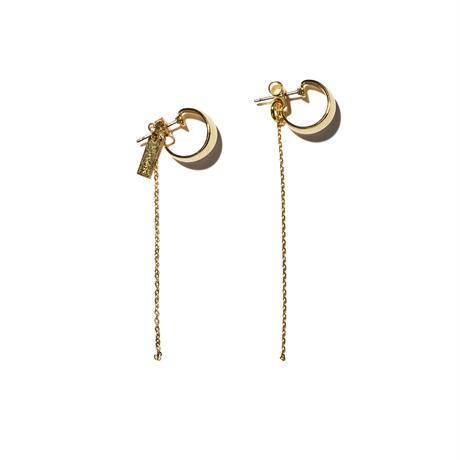 フィカスイヤリングス(両耳ピアス)/ficus earrings/0090