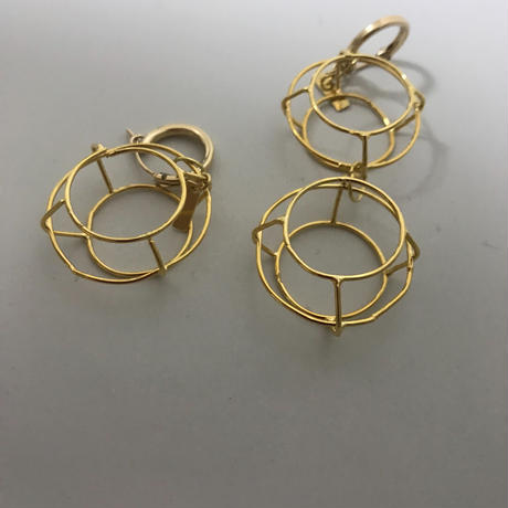 allium earring(片耳)/0092