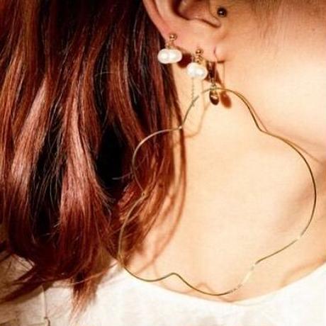 フラワーイヤリングス(両耳ピアス)/flower earrings/0047