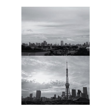 額装 ポスター  東京の空(40枚限定) A2+トリムマーク(トンボ)、インクマーク入り