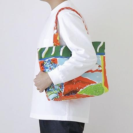 TANSAN Tote Bag M 「Tea Time」orange
