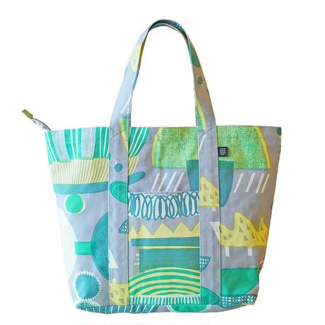 Travel Bag 「Lamp Flower」gray