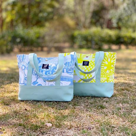 TANSAN Tote Bag 2 tone「散歩道」sky blue
