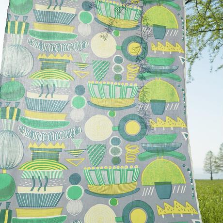 Mini tote Bag ランプフラワー」green