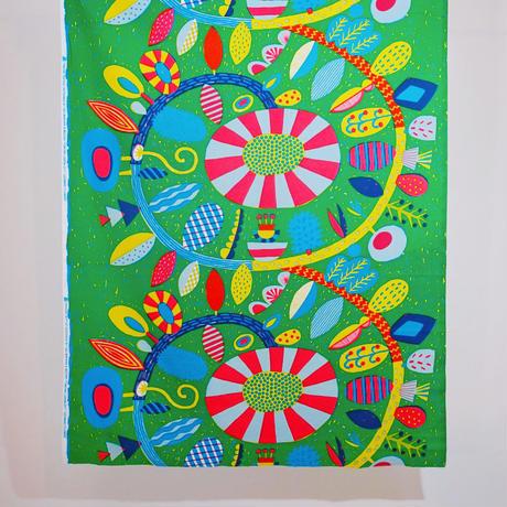 マチトートバッグ 「うずまきフラワー」green