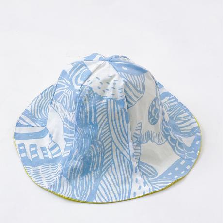 Bi TANSAN Tulip Hat「散歩道」sky blue