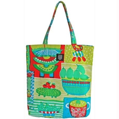 odekakeBAG「welcome fruits」green