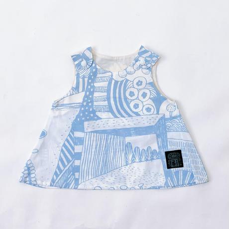 Bi TANSAN Baby Tunic「散歩道」sky blue