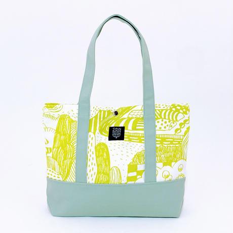 TANSAN Tote Bag 2 tone 「散歩道」citron