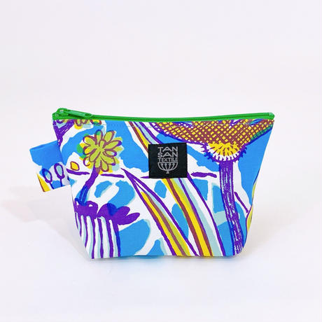 Machi Pouch Mサイズ「Tea Time」blue