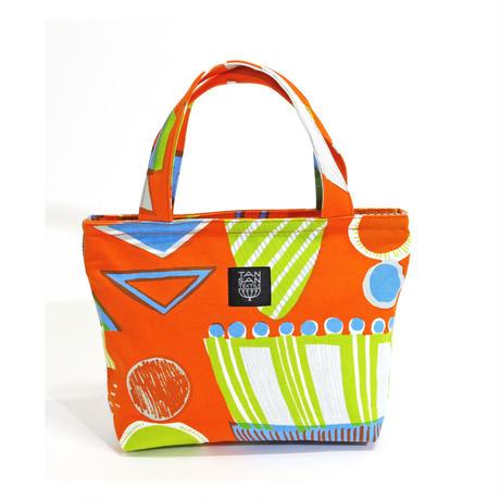 Mini tote Bag 「ランプフラワー」 orange