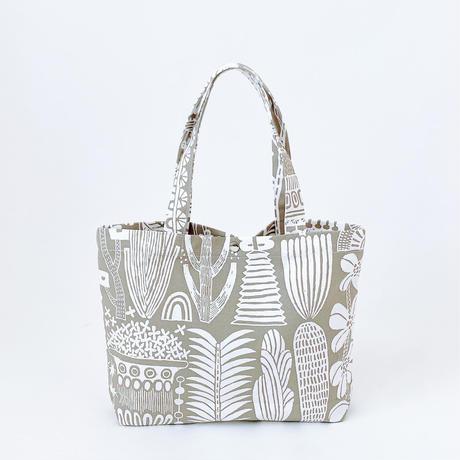 TANSAN Tote Bag M 「植物園」beige