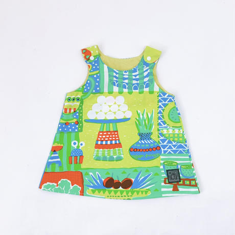 Bi TANSAN Kids Tunic「Welcome Fruits」green