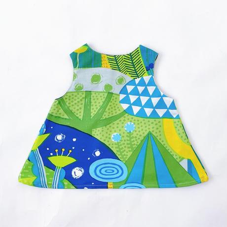 Bi TANSAN Baby Tunic「Mori no umi」blue