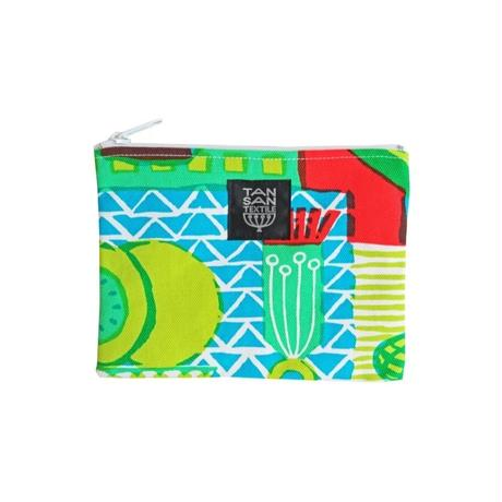 odekake POUCH 「welcome fruits」green