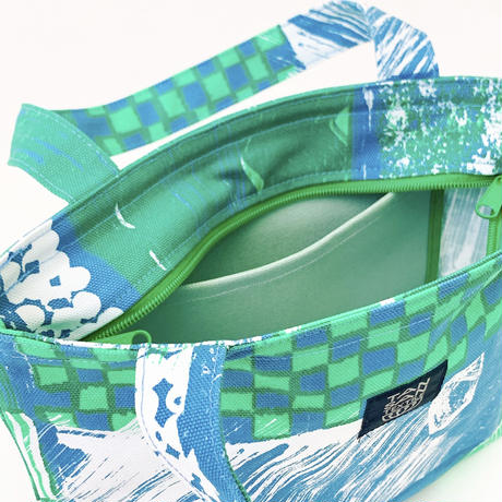 Mini tote Bag 「Suiden」blue