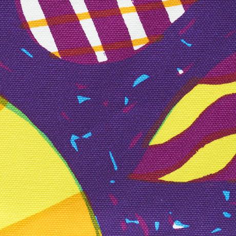 Machi Pouch Lサイズ「うずまきフラワー」purple